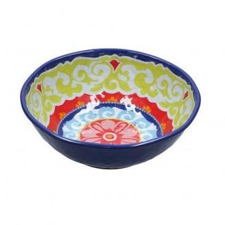 Camilla And Marc Forma House - Rose And Tulipani Country Life Salad Bowl Melamine O 28 Cm Blue