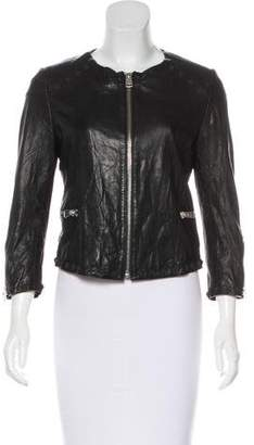 Anine Bing Embellished Leather Jacket