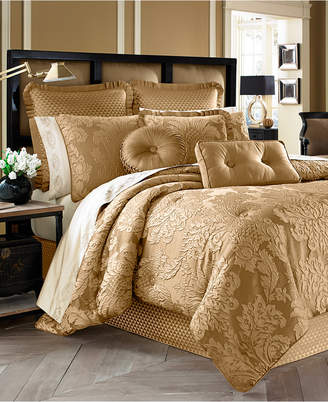 J Queen New York Concord 4-Pc. Gold California King Comforter Set Bedding