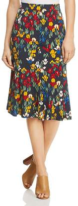 Tory Burch Jada Floral Dot Midi Skirt