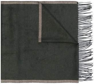 Corneliani logo fringed scarf