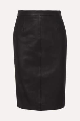 RED Valentino Leather Skirt - Black