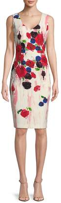 David Meister Women's Floral-Print Sheath Dress