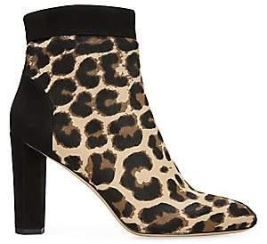 Diane von Furstenberg Women's Daphne 2 Calf Hair Leather Ankle Boots