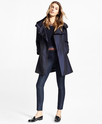Brooks Brothers Water-Repellent Dobby Swing Coat
