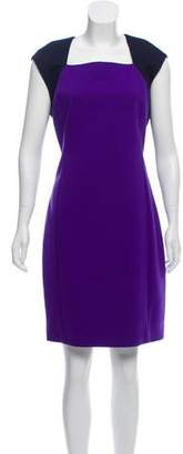 T Tahari Square Neck Knee-Length Dress