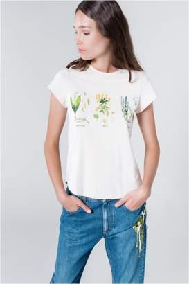 Sonia Rykiel Short-Sleeved Herbarium Print T-Shirt