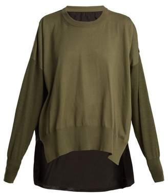 MM6 MAISON MARGIELA Contrast-panel crew-neck cotton-blend sweater