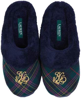 Lauren Ralph Lauren Logo Embroidered Plush Slippers