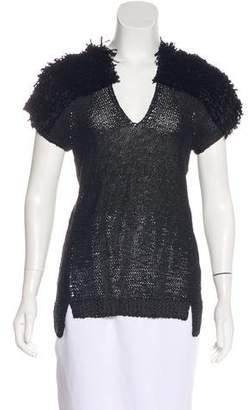Zero Maria Cornejo Knit Short Sleeve Top