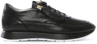 Högl Black Leather Lace Up Sneakers