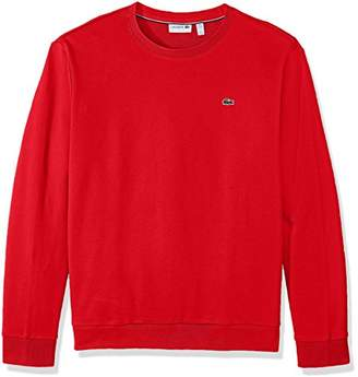 Lacoste Men's Crewneck Fleece with Textured Rib Trim Sweatshirt