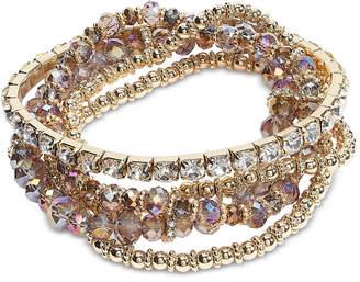 INC International Concepts I.n.c. Gold-Tone 4-Pc. Set Crystal & Bead Stretch Bracelets