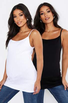 boohoo Maternity 2 Pack Cami Vest Top