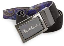 Robert Graham Eclipse Reversible Faux Leather Belt
