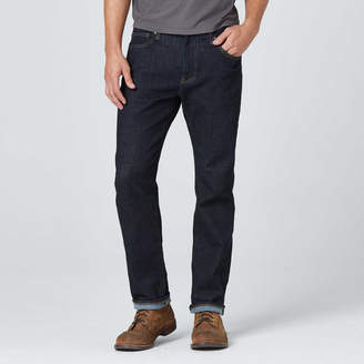 DSTLD Slim Jeans in Dark Wash Resin - Timber Stitch