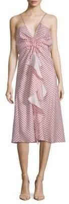 Ruffle Tank Midi Dress