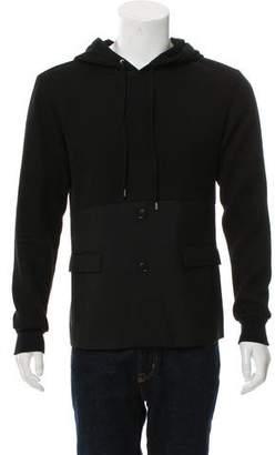 Kris Van Assche Pullover Textured Hoodie