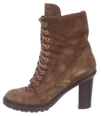 Prada Suede Mid-Calf Boots