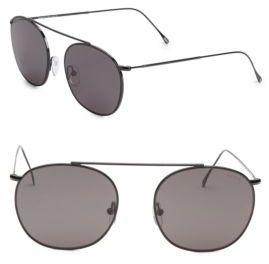 Illesteva Mykonos II 53MM Aviator Sunglasses $177 thestylecure.com