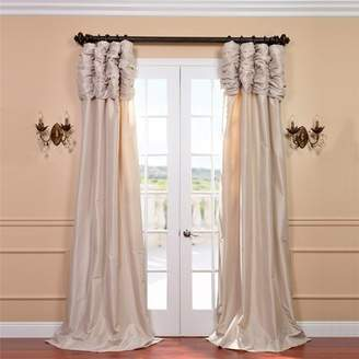 Astoria Grand Mcree Ruched Faux Silk Taffeta Thermal Rod Pocket Single Curtain Panel