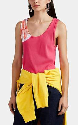 Calvin Klein Women's Tie-Dyed Ribbed Stretch-Cotton Tank Top - Pink