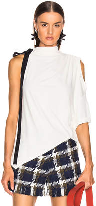 Monse Asymmetrical Halter Tee in Ivory | FWRD