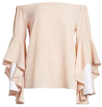 Women's Chelsea28 Bell Sleeve Off The Shoulder Top $79 thestylecure.com
