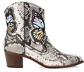 Sophia Webster Women's Shelby Snakeprint Cowboy Boots