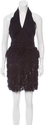 Vivienne Tam Ruffled Silk Dress
