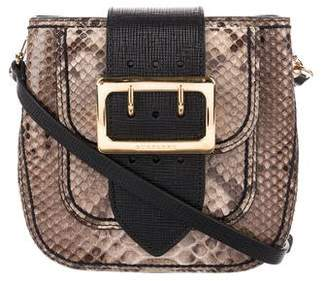 Burberry Snakeskin & Leather Crossbody Bag