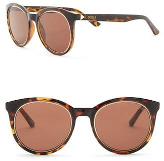 GUESS 53mm Round Sunglasses