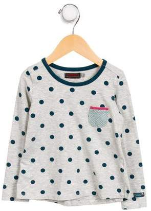Catimini Girls' Polka Dot Knit Top