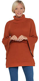 Halston H by Turtleneck Sweater w/ SplitSleeve