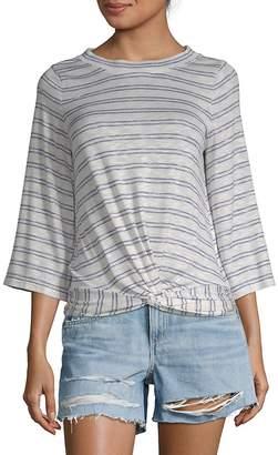 Max Studio Women's Stripe Flare-Sleeve Tee
