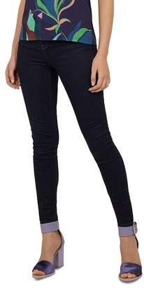 0b0662f2d Ted Baker Rebacco Tobacco-Stitched Skinny Jeans in Dark Blue