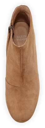 Eileen Fisher Miller Suede Zip Dress Booties