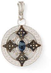 Armenta New World Round Crivelli Shield Enhancer with Diamonds