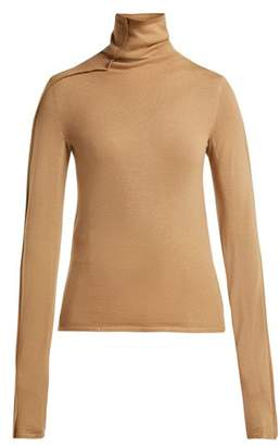 Joseph Roll Neck Wool Sweater - Womens - Tan Multi