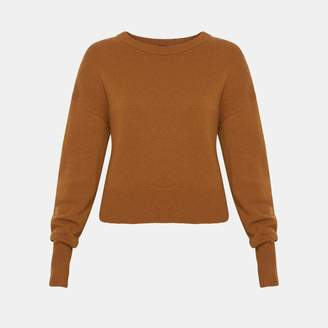 Theory Cashmere Dropped Shoulder Sweater