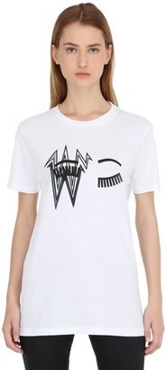 Flirting Eye Bolt Cotton Jersey T-Shirt $170 thestylecure.com