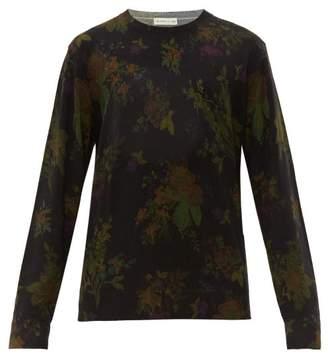 Etro Floral Print Wool Sweater - Mens - Green Multi