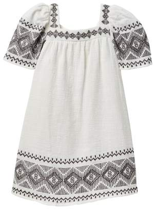 Jessica Simpson Embroidered Linen Dress (Little Girls)