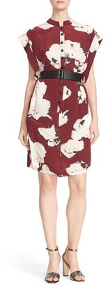 Tracy Reese Belted Floral Print Silk Dress $398 thestylecure.com