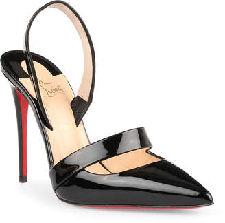 Christian Louboutin Actina 100 black patent leather pumps