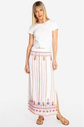 9168aa61666 Johnny Was Frederique Side Slit Maxi Skirt