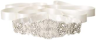 Nina Satin/Crystal Beaded Satin Women's Belts