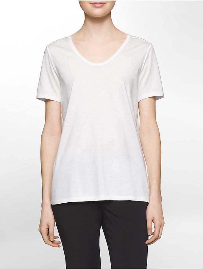 Calvin KleinPlatinum Lightweight Scoopneck T-Shirt