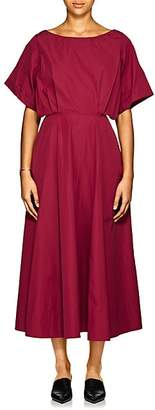 Derek Lam Women's Cotton Sateen Midi-Dress - Plum