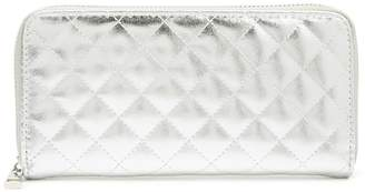 Forever 21 Quilted Metallic Faux Leather Wallet